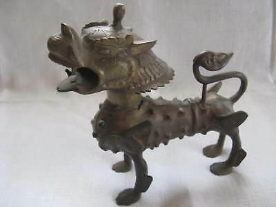 Drache Skulptur China Asien Bronze Messing 20 x 20 cm.
