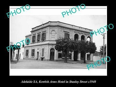 OLD LARGE HISTORICAL PHOTO OF ADELAIDE SA, KENTISH ARMS HOTEL,STANLEY St 1940
