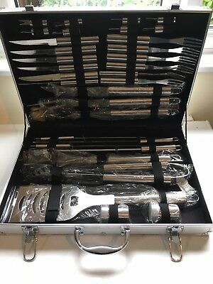 BBQ or Picnic cutlery set with tongs, burger flipper etc