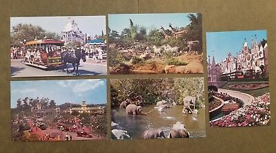 Disneyland Postcards; five (5) different; not mailed; group 1