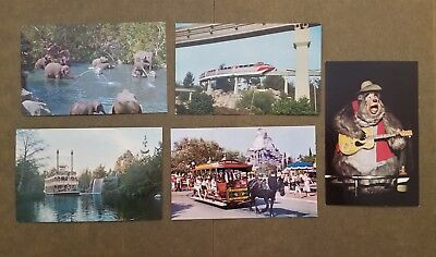 Disneyland Postcards; five (5) different; not mailed; group 2