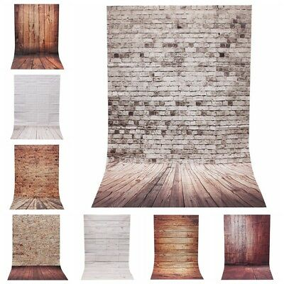 Retro Wood Plank Wall Floor Photography Backdrop Studio Photo Background 3x5FT