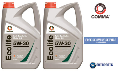 Genuine Comma Performance Motor Oil Ecolife 5W-30 Fully Synthetic 10L (5L X 2)