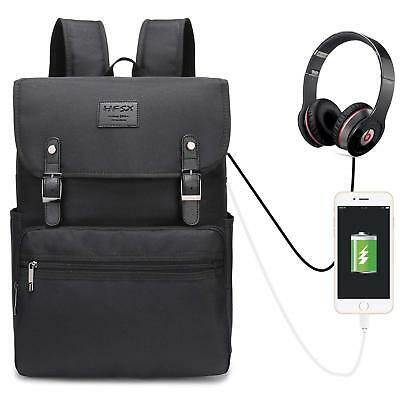 Laptop Backpack 15.6 Inch Stylish School Backpack Water Repellent with USB Port