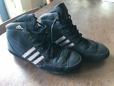 Mens Combat Speed 3 Adidas Wrestling Boot Trainer G17568 Black/Silver