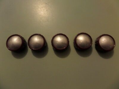 HMV radio  knobs - suits models 1952 to 1957  Maroon and Silver  last  lot !!!