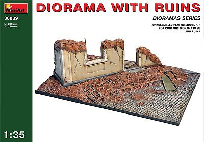 "Miniart 1:35 Scale ""Diorama with Ruins"" Plastic Model Kit"