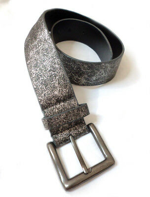 NEXT Girls or Petite Womans Vintage Silver Faux Leather Belt ~ 5 Yrs ~ 30 inches