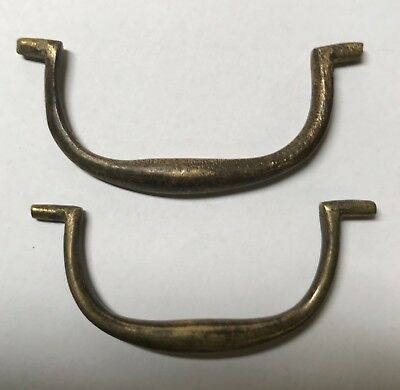 Pair of Antique Solid brass Georgian Drawer Handles. 17th 18th 19th.