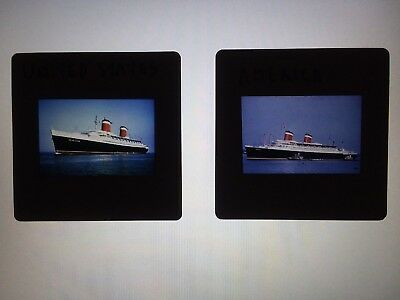 35mm SLIDE UNITED STATES & SS AMERICA UNITED STATES LINES, INC. PUBLICITY