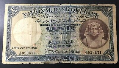 Egypt 1 Pound 1938 Cook  .. See Scan!!!