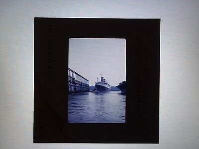 35mm SLIDE SS UNITED STATES SS AMERICA PIER 86 IN NEW YORK AUGUST 1960