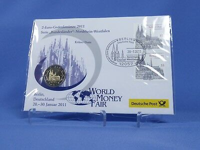 BRD 2 Euro 2011 F , NRW   , World Money Fair  , Numisbrief , OVP ( 13676)