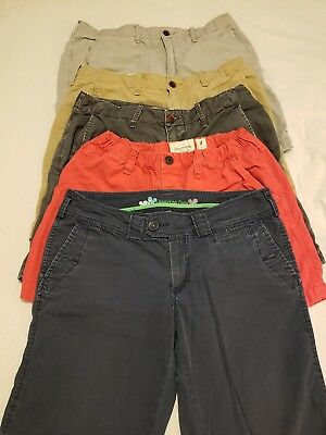 5 Pc Lot Womens Shorts 31 Med Abercrombie Fitch AE American Eagle School Casual