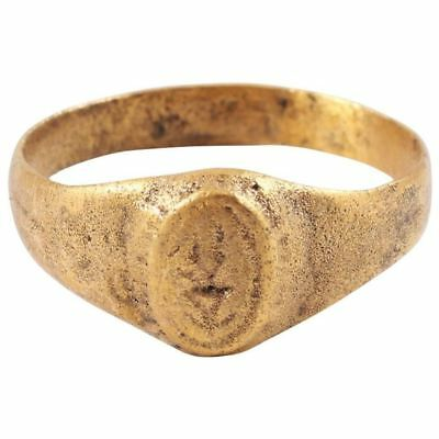 ANCIENT BYZANTINE GILT RING C.8th-11th CENTURY Size 10 ½. 20.0mm