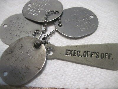 selling 4 dog tags ww2 navy with chain