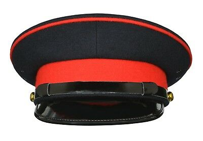 BRITISH ARMY OFFICER'S GENERAL STAFF SERVICE No 1 & No 2 MILITARY PEAK CAP HAT
