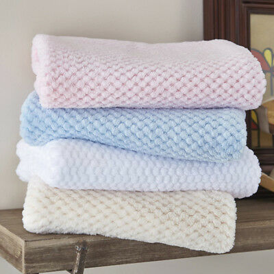 Clair de Lune Honeycomb Knitted Jersey Blanket