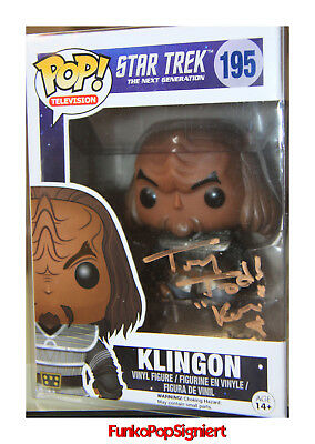 Funko Pop signiert - Star Trek Klingon - Tony Todd