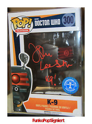 Funko Pop signiert  K-9  Doctor Who  - John Leeson