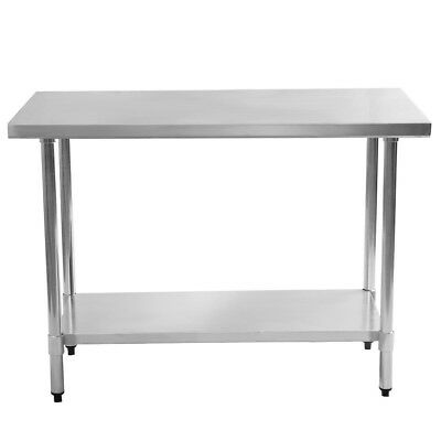 "Kitchen Stainless Steel Work Prep Table Commercial Restaurant 24"" x 48"" Useful"
