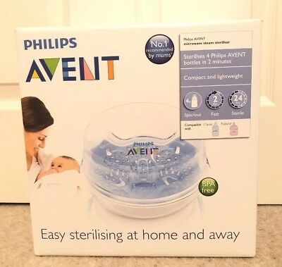 Philips AVENT SCF281/02 Baby Microwave Steam Compact Bottle Steriliser BPA Free