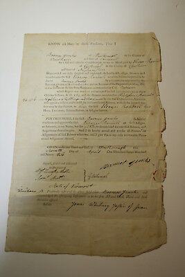 RARE Rev War Soldier Boomer Jenks Vermont State Congress Pay Document w/ Seal