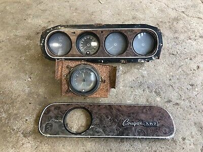 1969 COUGAR XR7 Tach Dash Gauge Cluster & Clock Panel Wiring 68,553