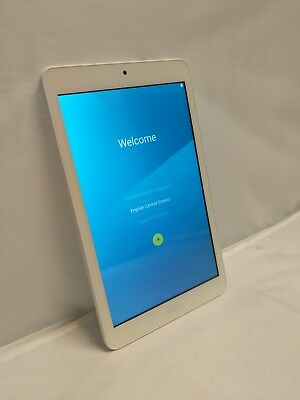 """Acer Iconia One 8, B1-850, Model A6001, 8"""" white tablet."""