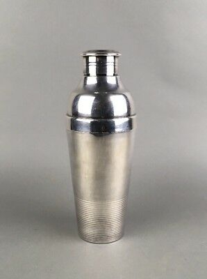 Antique Art Deco Luc Lanel for Christofle 1930's Ondulations Cocktail Shaker