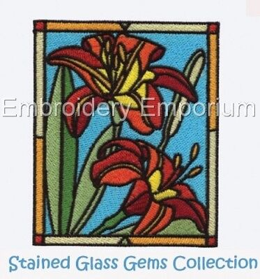 Stained Glass Gems Collection - Machine Embroidery Designs On Cd
