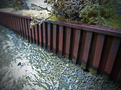 Laser Cut Canal Piling Dockside Quayside Scale 1:50 Diecast Diorama - Lx107-50