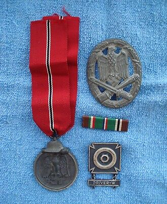 Mixed Lot of 4  WWII Original American & German Medals