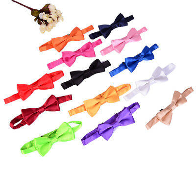 Bow tie for kids solid boys colour children tied bowtie new toddler UK
