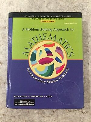 a problem solving approach to mathematics for elementary teachers