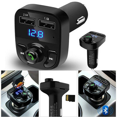 Wireless Handsfree Car FM Transmitter Dual USB Adapter Charger LCD MP3 Player