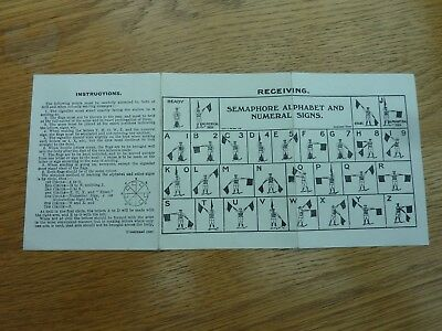 Ww1 Era Gale & Polden Semaphore Alphabet & Signs Fold Out Guide