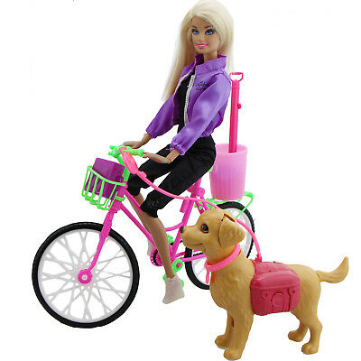Bike Bicycle / Pet Dog / Outfit / Shoes Accessories Clothes For Barbie Doll 87F