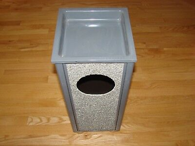 """United Receptacles Sand Urn Litter 2.5 Gallon, 10""""Sqx24""""H, Gray RCPR41201PL"""