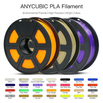 Anycubic 1KG 1.75mm PLA Black 3D Printer Filament Spool, 2.2lbs,Multi-Colour US