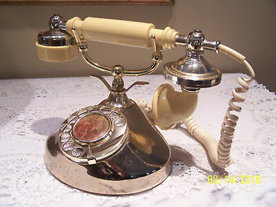 Vintage French Princess Style Rotary Dial Telephone With Castle Image
