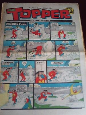 THE TOPPER. #990. JAN 22nd. 1972