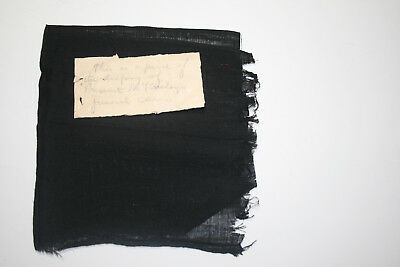 Orig Pres Wm McKinley Furenal Car Black Mourning Cloth Draping - Note - Photo