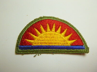 A   WW 2 U S Army 41st Division O D Backing  Cut Edge Snow Back Patch