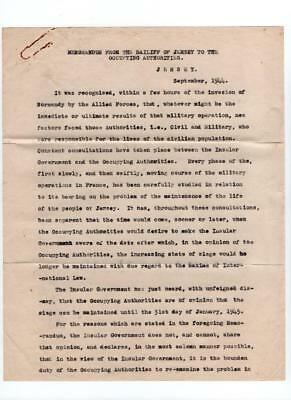 Ww2 Letter From Bailiff To People Of Jersey German Occupied Channel Islands 1944