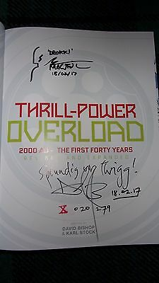 *DOUBLE SIGNED**DATED/DOODLED.THRILL - POWER OVERLOAD The 1st 40yrs.DAVID BISHOP