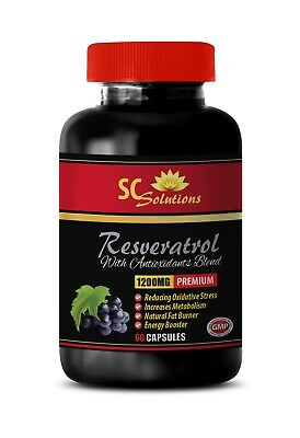 high blood pressure pills - RESVERATROL 1200mg - antioxidant complex -1 Bottle