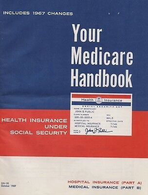 Your Medicare Handbook October 1969, 32 Pages, Historical Medicare document