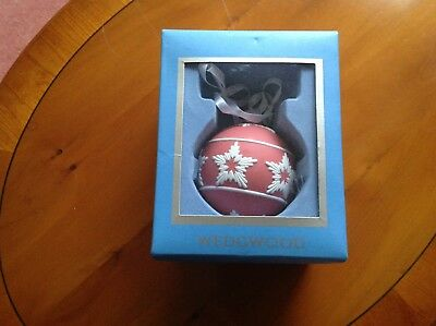 Wedgwood Jasper Ware Pink And White Christmas Decoration - Boxed Used