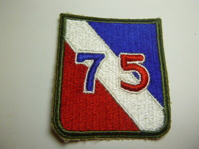 A   WW 2 U S Army 75th   Division   Cut Edge Snow Back Patch